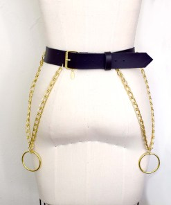 chain leather belt, love lorn lingerie
