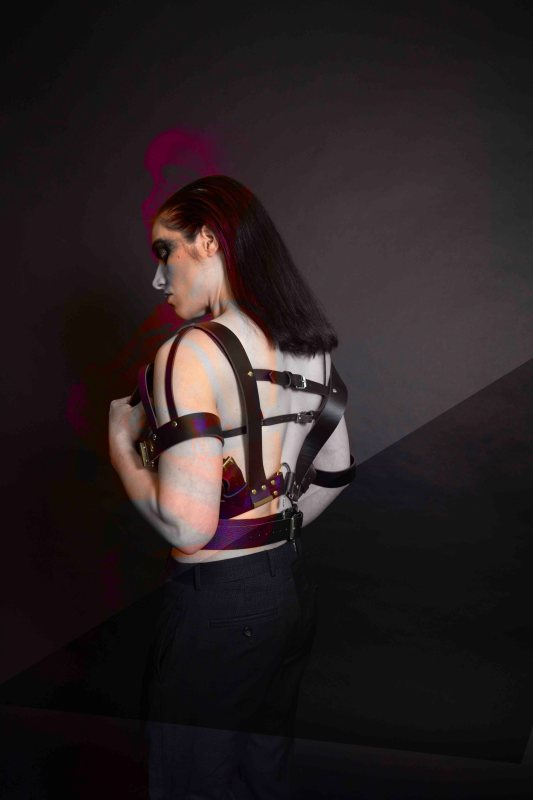 leather harness lingerie look book