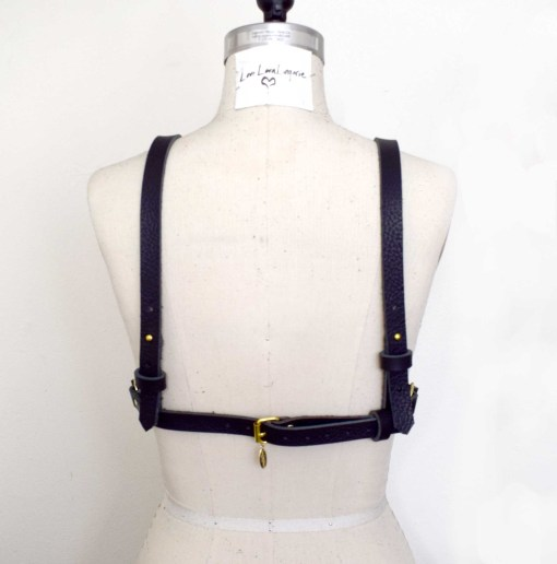 Leather Harness Shelf Bra