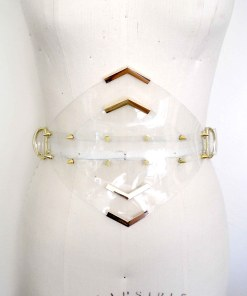 Clear PVC waspie belt