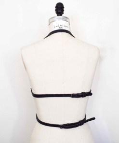 underbust leather harness bodice