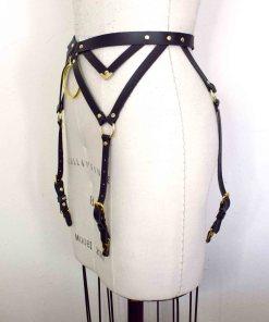 Black Leather Garter Belt