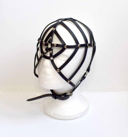 Web Leather Face Mask