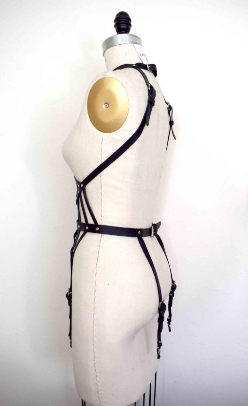 Web Leather Harness Playsuit