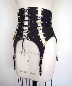 High Waist Leather Girdle