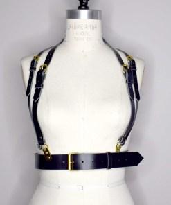 black chest harness