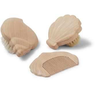 Set de brosses et peigne coquillages marque éco-friendly danoise KONGES SLØJD