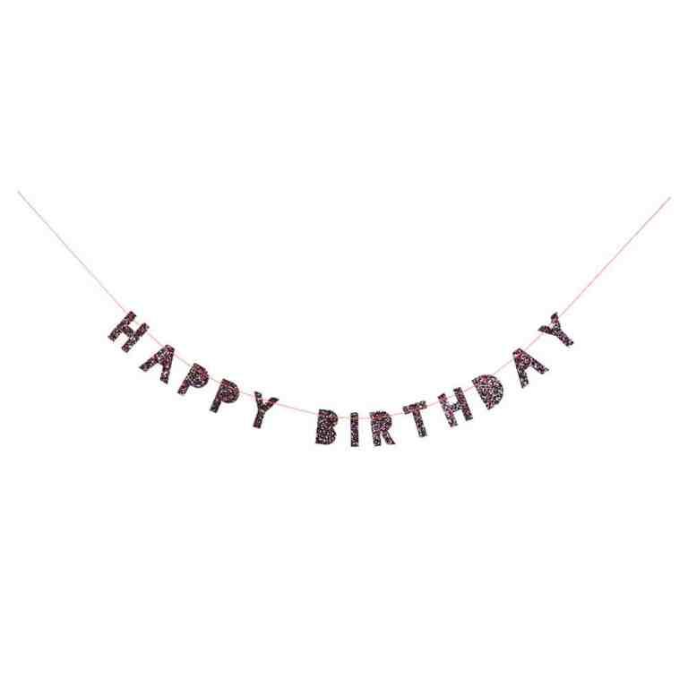 Meri Meri-Guirlande Happy Birthday multicolores