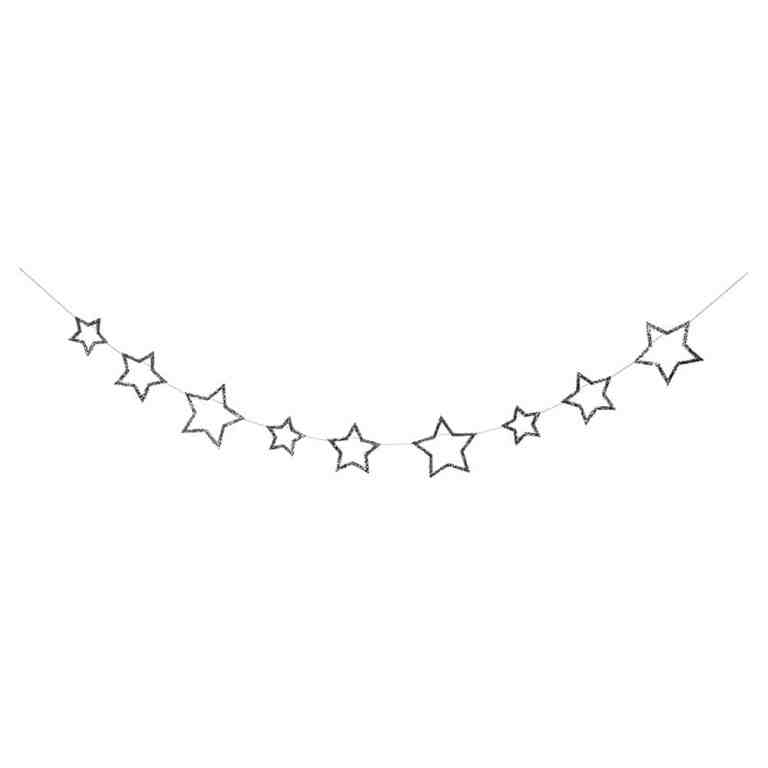 meri meri-guirlande étoiles argentées