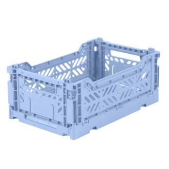 Cagette en plastique recyclé bleu lavande Eef Lillemor.