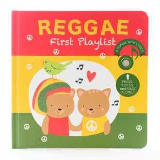 Livre sonore et musical Reggae par Cali's books. Livre musical de comptines de Noël en anglais. Livre illustré pour enfants.