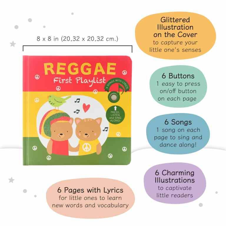 Livre sonore et musical Reggae par Cali's books