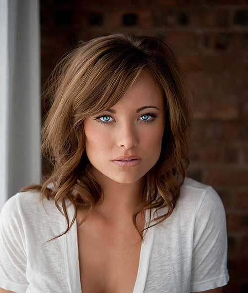 25 Hairstyles with Long Bangs  Hairstyles  Haircuts 2016  2017
