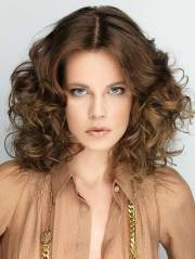 medium length curly hair styles