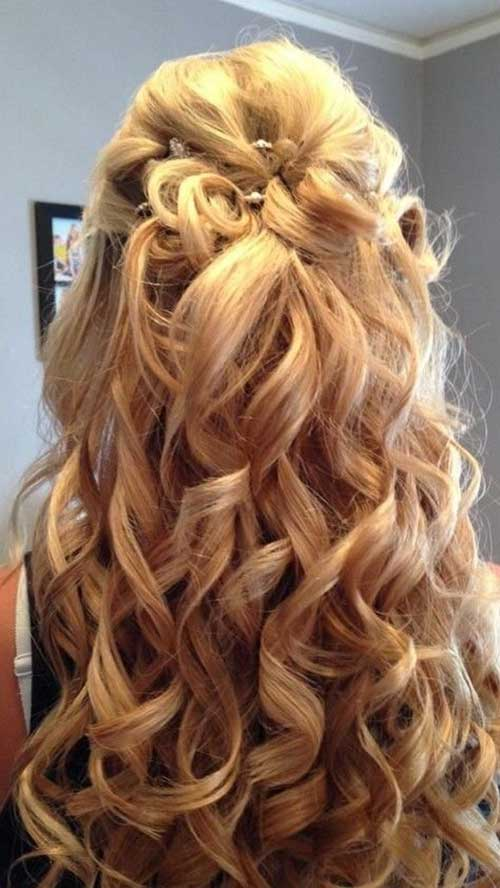 30 Best Half Up Curly Hairstyles Hairstyles & Haircuts 2016 2017