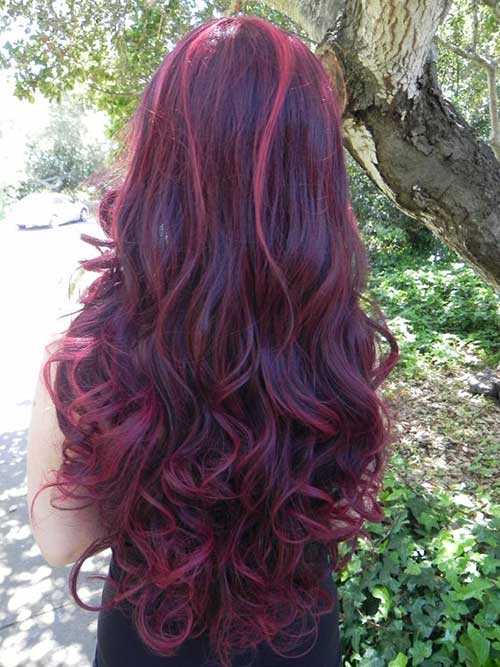 Red Purple Long Hairstyles Red Hair Trend 2017