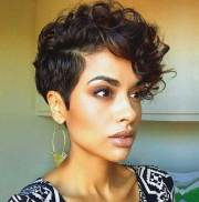 long pixie haircut thick