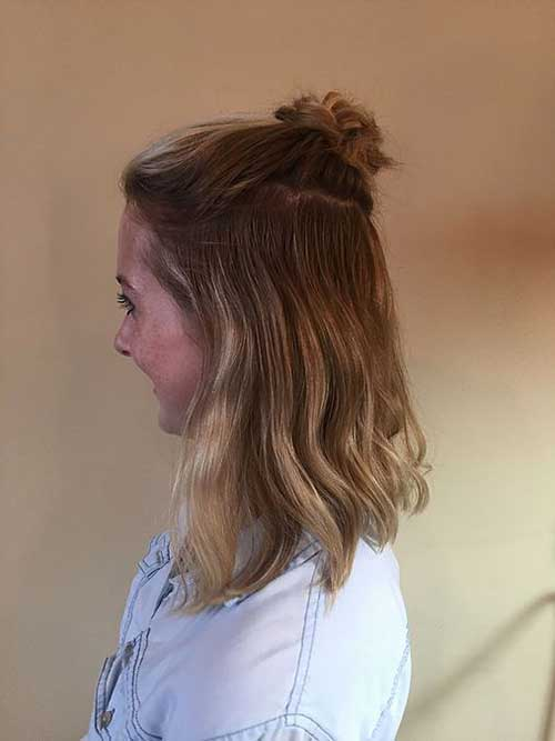 Really Stylish Amp Trending Half Bun Hairstyles Hairstyles