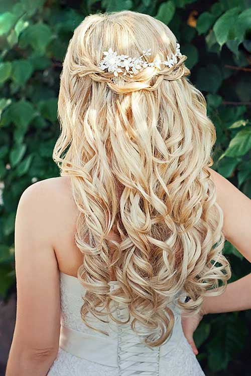 15 Half Up Half Down Bridal Hair Hairstyles Amp Haircuts