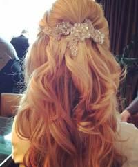 15+ Half Up Half Down Bridal Hair | Hairstyles & Haircuts ...