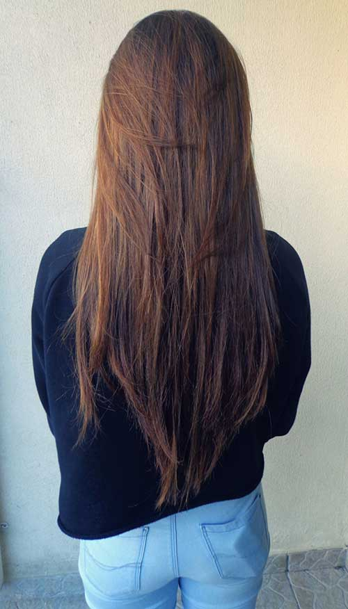 Twisted Hair With Ponytail Wonderful Ponytail Hairstyle For Brown Long Cure Hair