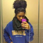 black girls with long natural