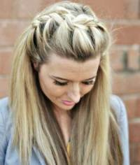 Straight Hair Styles With Braids | www.pixshark.com ...