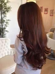 long dark brown hairstyles