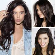 long dark brown hairstyles