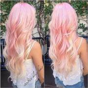 pink blonde hair color hairstyles