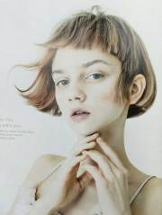 chic bangs with hairdos