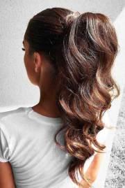 latest ponytail hairdos