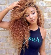 long natural curly hairstyles
