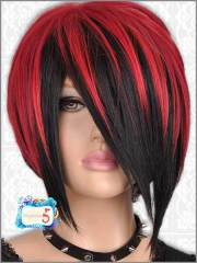 amazing black and red colored hairstyles