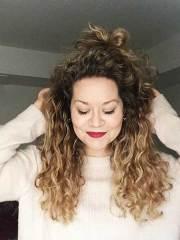 balayage blonde curly hairstyles