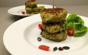 Vegane Kichererbsen Quinoa Laibchen