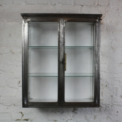 Stripped and polished steel vintage French medicine