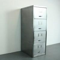 Vintage polished steel 4 section filing cabinet - Lovely ...