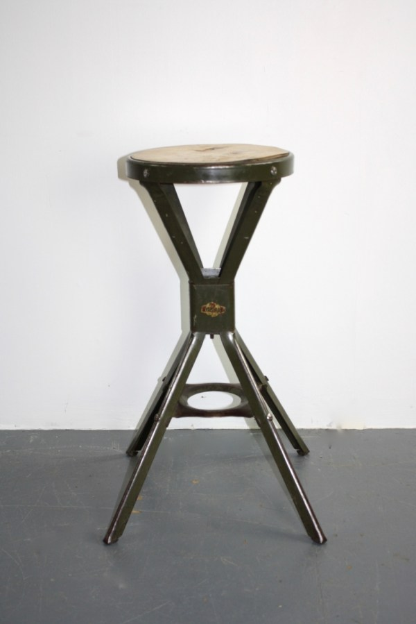 Vintage Industrial Evertaut Factory Stool - Lovely And Company