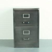 2 drawer vintage stripped steel filing cabinet - Lovely ...