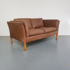 Vintage Leather Sofa Company Stock Clearance Sofas Manchester Mogensen Style 2 Seater Tan Lovely