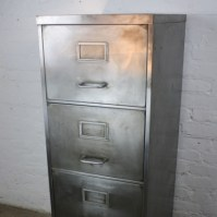 Mid century polished steel filing cabinet - Lovely and Company