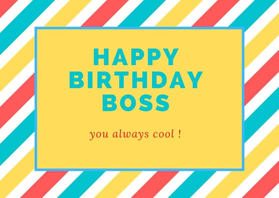 Birthday Wishes for Boss free Image