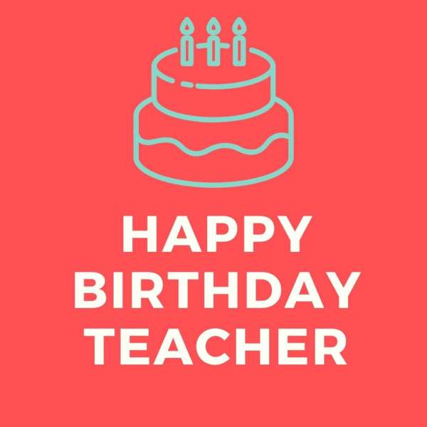Birthday Wishes For Teacher XD Imager