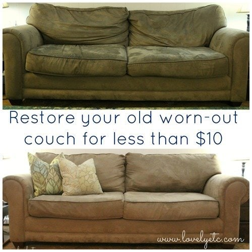 tan sofa and loveseat wall mounted beds with save your couch: how to clean a microfiber couch - lovely etc.