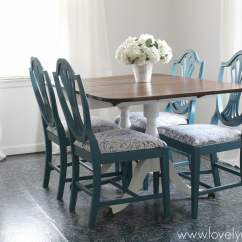 Dining Room Chair Bottom Covers Patio Chairs For Front Porch Gorgeous Transformation - Lovely Etc.