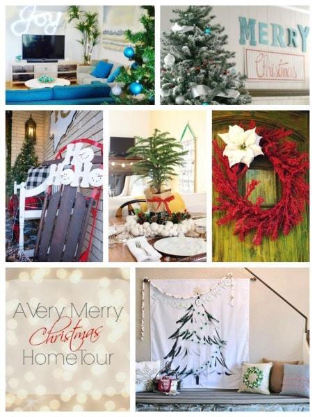 Monday Christmas Home Tour Collage