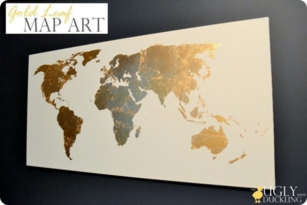 Beautiful and Meaningful DIY Map Art  Lovely Etc