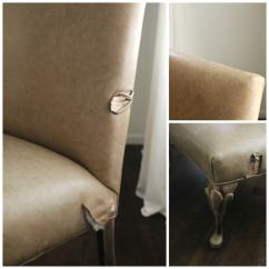 Reupholster Sofa In Leather Tan Chesterfield How To Furniture With Gorgeous Lovely Etc I Knew This Would Be The Perfect Piece From Hide Store