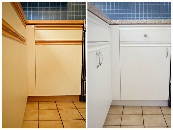 Painting Old Melamine Kitchen Cabinets Home Design Mannahatta Us